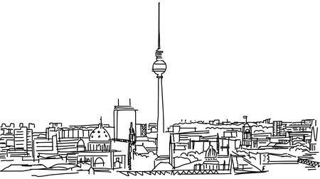 citylandscape : Berlin skyline, Sketched Motion Sequence, 5 seconds buildup and teardown 5 sec