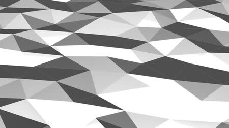 секунды : Gray low poly waving surface as lovely background motion design, seamless looping. HD resolution. 10 seconds.