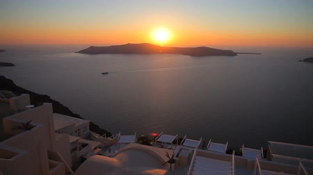 aegean sea : sunset on the island of Santorini