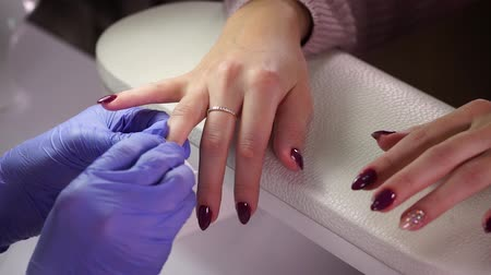 Professional manicure process Stock Footage