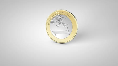 euro : rotating on the surface of the coin 1 euro