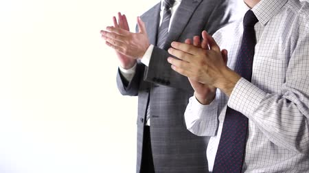 person's hand : Business team applause Stock Footage