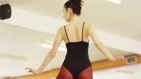 lesson : beautiful girl wearing ballet leotard