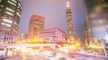 tourism : Nice night view of Taipei city