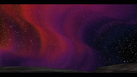 The 3d rendering of nice aurora with clear start behind it