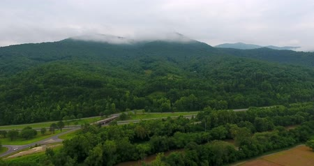 roaring : Great smoky mountains areal view