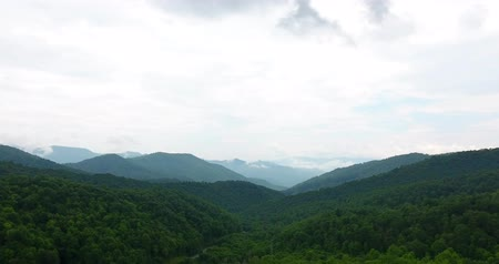 Észak amerika : Great smoky mountains areal view