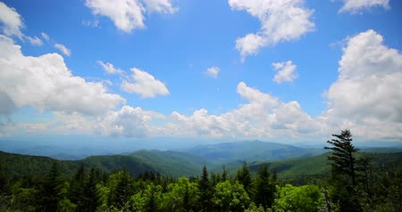 füstös : Great smoky mountains view. Day or morning timelapse.