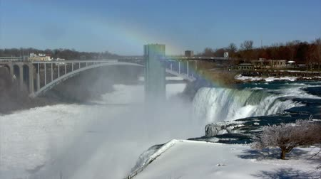 pomost : Niagara Falls in Winter - Rainbow Bridge Wideo