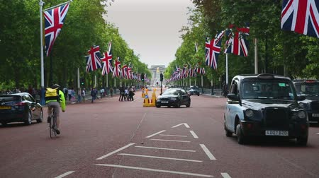 londyn : London traffic on the Mall Wideo
