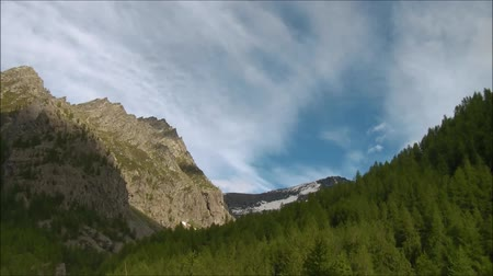alpler : mountain landscape Stok Video