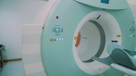 computed : Room with white magnetic resonance tomography for examination of the human body close-up