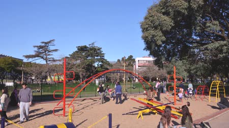 Time Lapse of Children Playing at Park in Buenos Aires