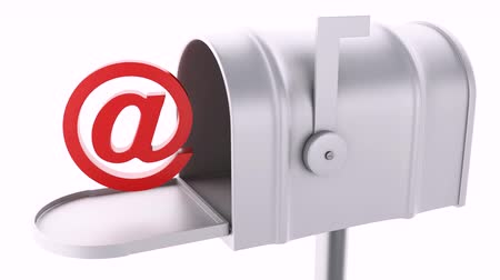 mensagens : mail box with at sign. email concept