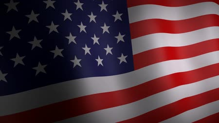 bandeira : 3d animation of United States national flag. Vídeos