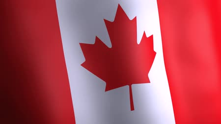3d animation of Canada national flag.
