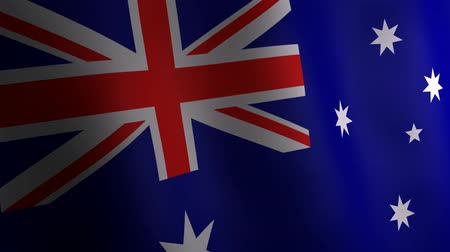 3d animation of Australia national flag.