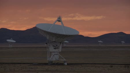 dish : satellite dish sunset timelapse