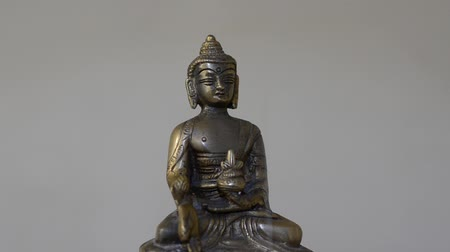 helmets : Buddha statue spinning with smoke