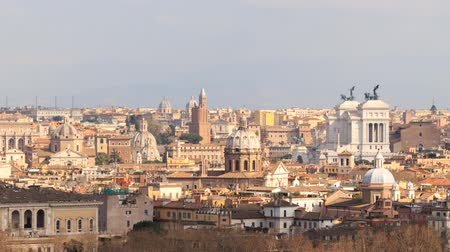roma : Vittoriano. View from the Gianicolo Hill. Italy. TimeLapse