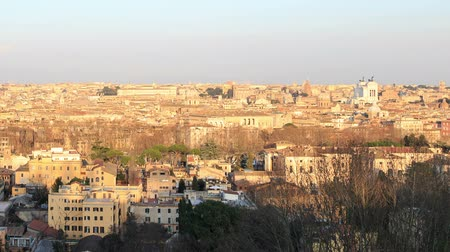 night : Center of Rome at sunset. Rome, Italy Stock Footage