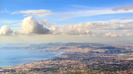 neapol : Over Naples. Italy. TimeLapse Wideo