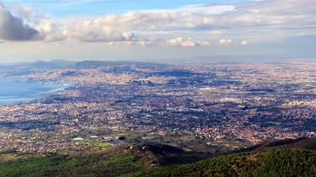 neapol : View of the city of Naples. Italy. Time Lapse