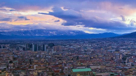 neapol : Dawn over Naples. Time Lapse Wideo