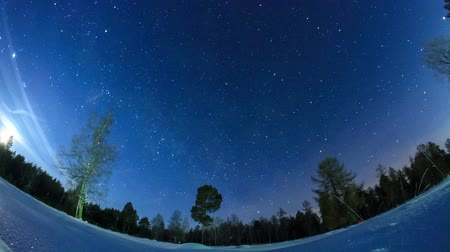 yolları : Stars leave traces. Fisheye. Time Lapse