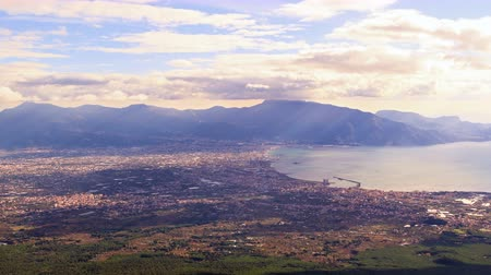 neapol : Pompei Valley, view from Mount Vesuvius. Italy. UltraHD 4K