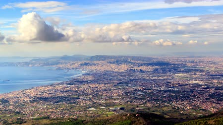 neapol : Naples, top view. Zoom. Italy. Time Lapse. UltraHD 4K Wideo