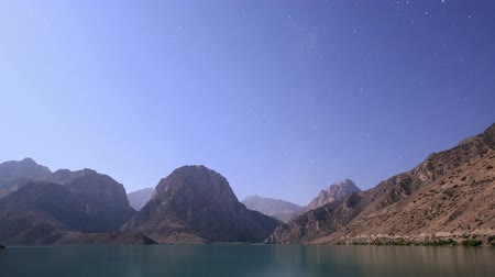ladění : Night on the lake. Tajikistan, Iskander-Kul. TimeLapse