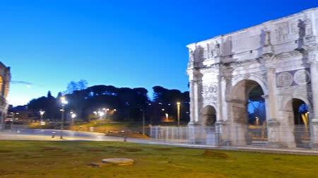 costantino : Triumphal Arch of Constantine at dawn. Rome. Italy