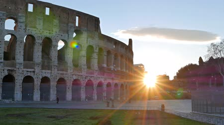 rzym : Colosseum, Sunrise. Rome, Italy Wideo