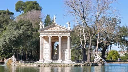 római : Around the Temple of Asclepius. Villa Borghese, Zoom. Rome, Italy
