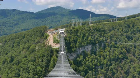 skypark : Bridge Skypark AJ Hackett Sochi, Adler, Russia - July 19, 2015: Adventure Park on top, in the city of Sochi. The park was opened in June 2014. UltraHD 4K