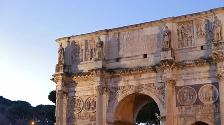 costantino : Arch of Constantine at dawn. Rome. Italy. UltraHD 4K