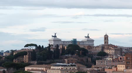 rzym : SunSet, Vittorio Emanuele II. Rome, Italy. TimeLapse Wideo