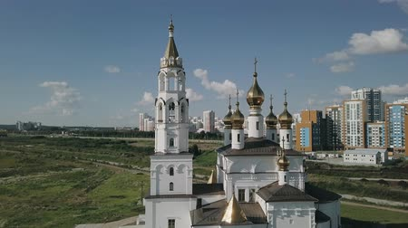 annunciation : Ekaterinburg. Annunciation Church of the Saints of Gods Builders. Academic district, From Dron