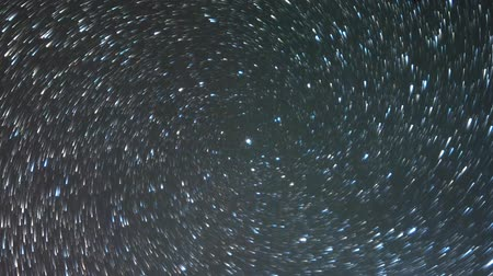 startrails : Stars in the sky like meteors in a spiral. TimeLapse. Tail tail Stock Footage