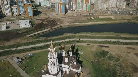 annunciation : Ekaterinburg. Annunciation Church of the Saints of Gods Builders. Academic district. Departure of the camera, From Dron
