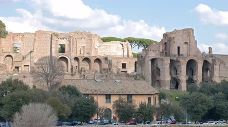 palatine : Ruins on the Palatine Hill. Rome, Italy