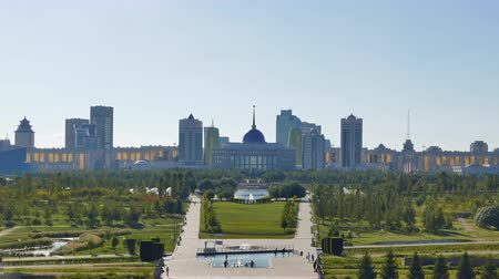 başkan : Panorama of Astana. Presidential Park and Palace Akorda President