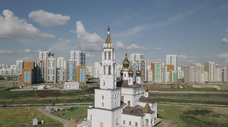 ekaterinburg : Ekaterinburg. Annunciation Church of the Saints of Gods Builders. Academic district, From Dron