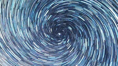 startrails : Stars draw a line in the sky. screw spiral. Zoom. Russia Stock Footage