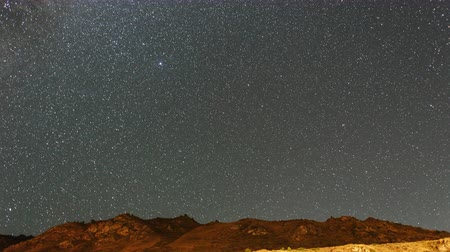 starry sky : Milky Way over the mountains Stock Footage
