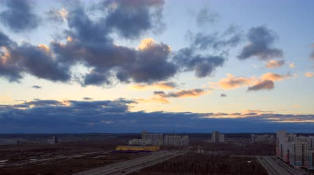 ural : Ekaterinburg, Russia. SunSet. Time Lapse Stock Footage