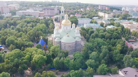 temple bell : The Penza Savior Cathedral. Penza, Russia, From Dron