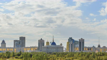 kazahsztán : The main attractions of the new Astana. Ak orda Palace, Baiterek, Khan-Shatyr and others. Kazakhstan. TimeLapse