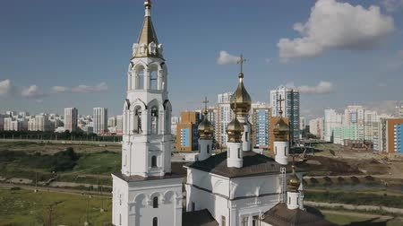 ural : Ekaterinburg. Annunciation Church of the Saints of Gods Builders. Academic district. point of interest, From Dron